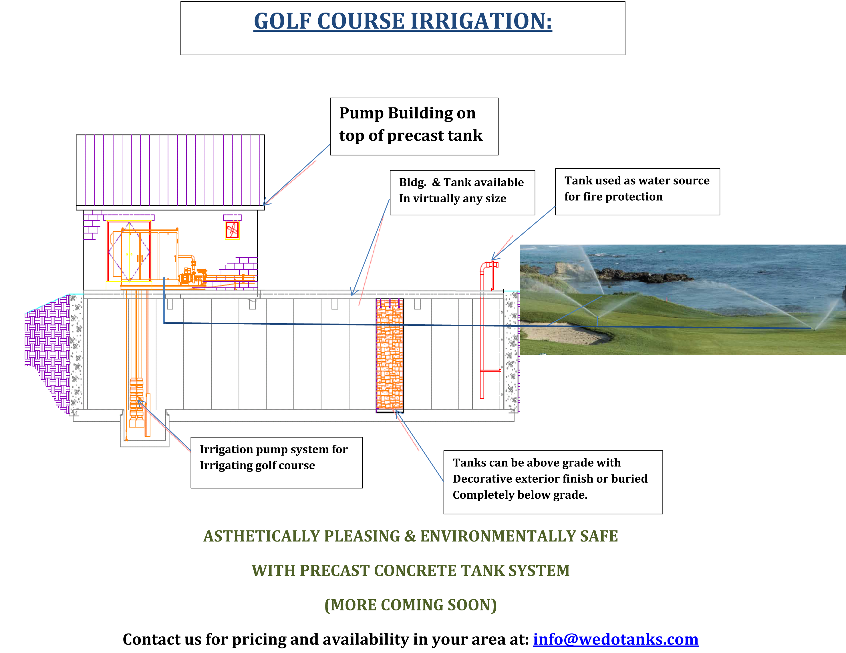 Leading Designer of Golf Course Irrigation Systems and Golf Course Water Tanks. HTI Designs and Builds Golf Course Water Storage Tanks For Golf Courses.