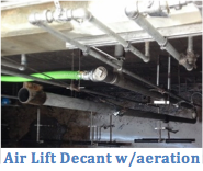 Air Lift Decant with aeration