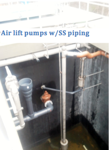 Air lift pumps with ss piping